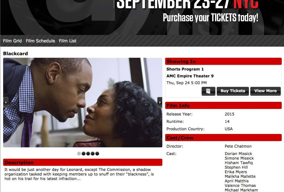 """BlackCard"" Screening In NYC, Thurs. 9/24!"